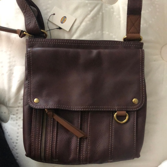 f667f04159 Fossil Bags | Morgan Traveler Bag Purse Espresso Nwt | Poshmark